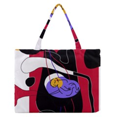 Love Medium Zipper Tote Bag by Valentinaart