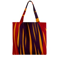 Fire Zipper Grocery Tote Bag by Valentinaart