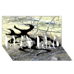 Black Love Browning Deer Camo BEST BRO 3D Greeting Card (8x4) by Zeze