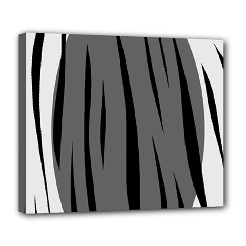 Gray, Black And White Design Deluxe Canvas 24  X 20   by Valentinaart