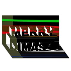Colorful Lines  Merry Xmas 3d Greeting Card (8x4) by Valentinaart