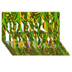 Upside Down Forest Happy Birthday 3d Greeting Card (8x4)