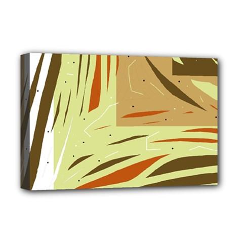 Brown decorative design Deluxe Canvas 18  x 12   by Valentinaart