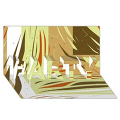 Brown Decorative Design Party 3d Greeting Card (8x4)