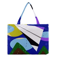 Paper Airplane Medium Tote Bag by Valentinaart