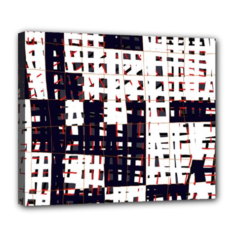 Abstract City Landscape Deluxe Canvas 24  X 20   by Valentinaart