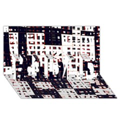 Abstract City Landscape #1 Dad 3d Greeting Card (8x4)