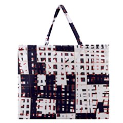 Abstract City Landscape Zipper Large Tote Bag by Valentinaart