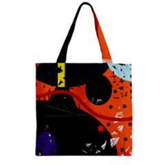 Orange Dream Zipper Grocery Tote Bag by Valentinaart