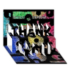 Colorful Puzzle Thank You 3d Greeting Card (7x5) by Valentinaart