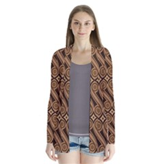 Batik The Traditional Fabric Drape Collar Cardigan by Zeze