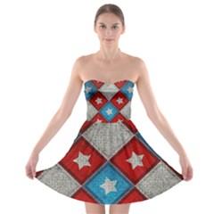 Atar Color Strapless Bra Top Dress