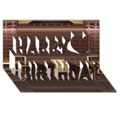 Brown Bag Happy Birthday 3D Greeting Card (8x4) by Zeze
