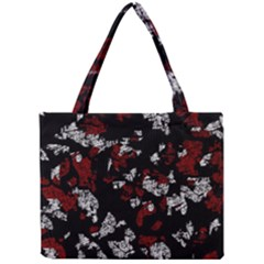 Red, White And Black Abstract Art Mini Tote Bag by Valentinaart