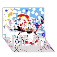 Snowman You Did It 3d Greeting Card (7x5)