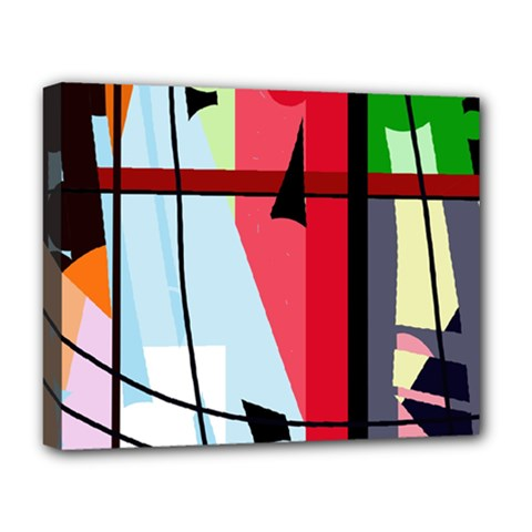 Window Deluxe Canvas 20  X 16   by Valentinaart