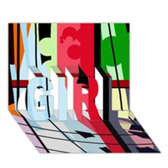 Window Girl 3d Greeting Card (7x5) by Valentinaart