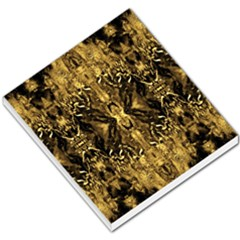 Beautiful Gold Brown Traditional Pattern Small Memo Pads by Costasonlineshop