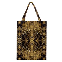 Beautiful Gold Brown Traditional Pattern Classic Tote Bag