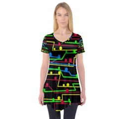 Stay In Line Short Sleeve Tunic