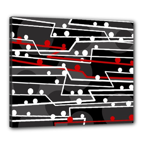 Stay In Line Canvas 24  X 20  by Valentinaart