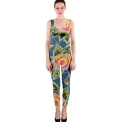 Floral Fantsy Pattern Onepiece Catsuit by DanaeStudio