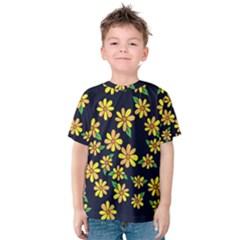 Daisy Flower Pattern For Summer Kids  Cotton Tee