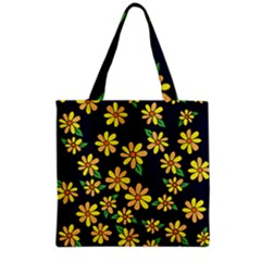 Daisy Flower Pattern For Summer Grocery Tote Bag