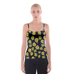 Daisy Flower Pattern For Summer Spaghetti Strap Top