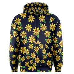 Daisy Flower Pattern For Summer Men s Zipper Hoodie