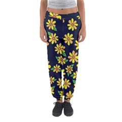 Daisy Flower Pattern For Summer Women s Jogger Sweatpants by BubbSnugg