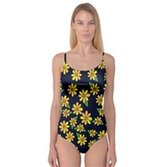 Daisy Flower Pattern For Summer Camisole Leotard
