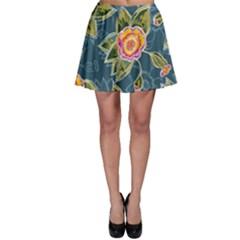 Floral Fantsy Pattern Skater Skirt