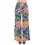 Floral Fantsy Pattern Women s Chic Palazzo Pants