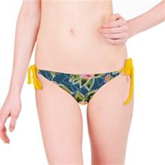 Floral Fantsy Pattern Bikini Bottom by DanaeStudio