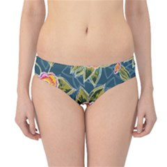 Floral Fantsy Pattern Hipster Bikini Bottoms by DanaeStudio