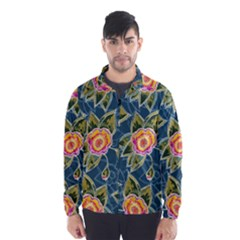 Floral Fantsy Pattern Wind Breaker (men) by DanaeStudio