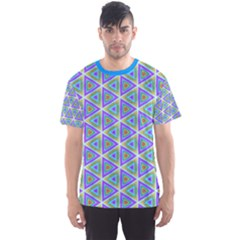 Colorful Retro Geometric Pattern Men s Sport Mesh Tee by DanaeStudio