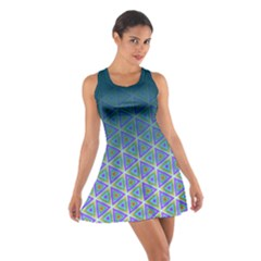Ombre Retro Geometric Pattern Cotton Racerback Dress by DanaeStudio