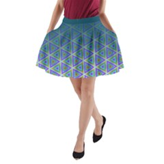 Ombre Retro Geometric Pattern A Line Pocket Skirt by DanaeStudio