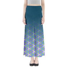 Ombre Retro Geometric Pattern Women s Maxi Skirt by DanaeStudio