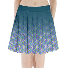 Ombre Retro Geometric Pattern Pleated Mini Skirt by DanaeStudio