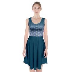 Ombre Retro Geometric Pattern Racerback Midi Dress by DanaeStudio