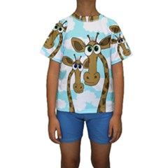 Just The Two Of Us Kids  Short Sleeve Swimwear by Valentinaart