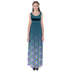 Ombre Retro Geometric Pattern Empire Waist Maxi Dress by DanaeStudio