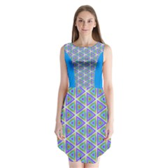 Colorful Retro Geometric Pattern Sleeveless Chiffon Dress   by DanaeStudio