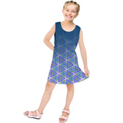 Ombre Retro Geometric Pattern Kids  Tunic Dress by DanaeStudio