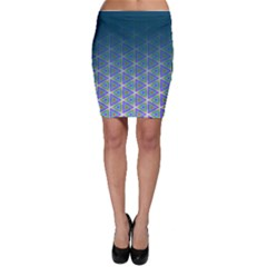 Ombre Retro Geometric Pattern Bodycon Skirt by DanaeStudio