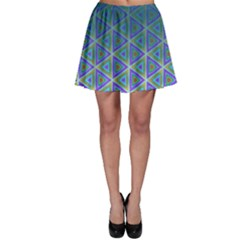 Ombre Retro Geometric Pattern Skater Skirt by DanaeStudio