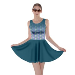 Ombre Retro Geometric Pattern Skater Dress by DanaeStudio